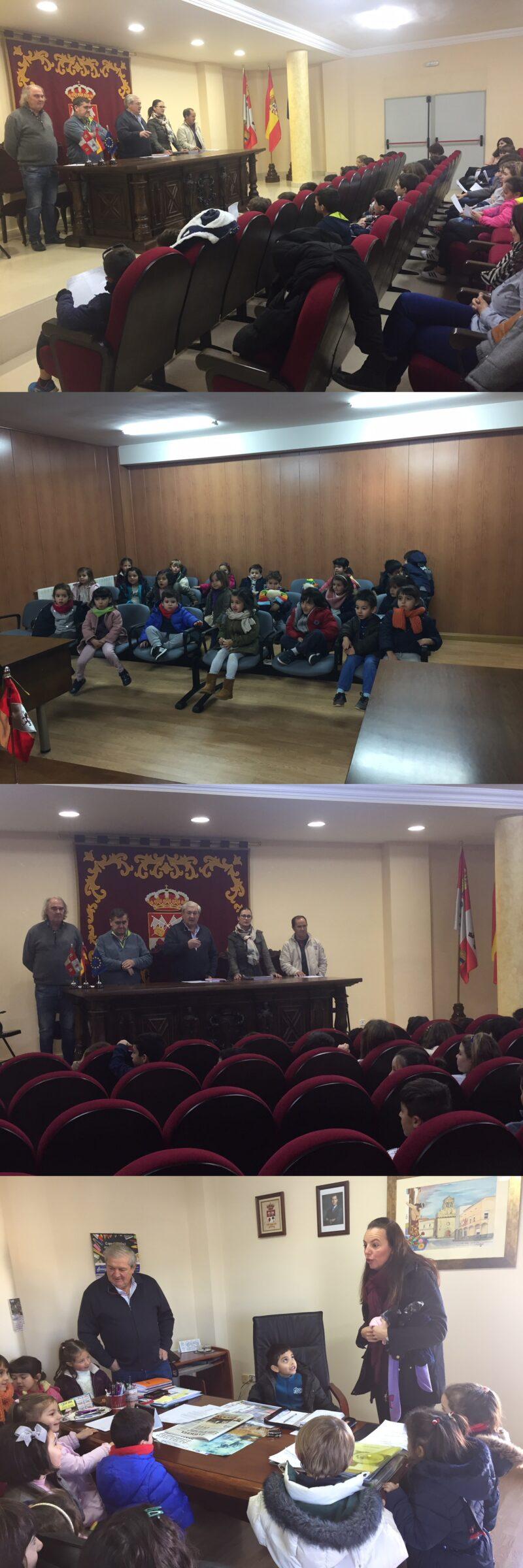 Visita de los Niños del CRA Las Dehesas al Ayuntamiento