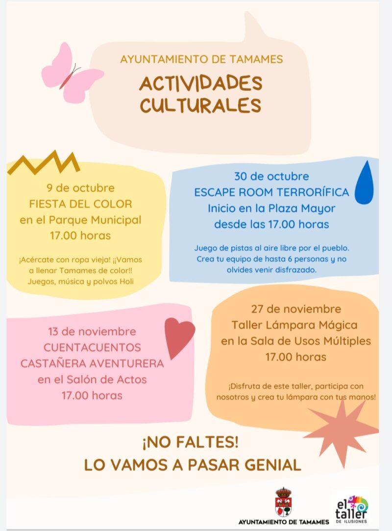 ACTIVIDADES CULTURALES OTOÑO 2021